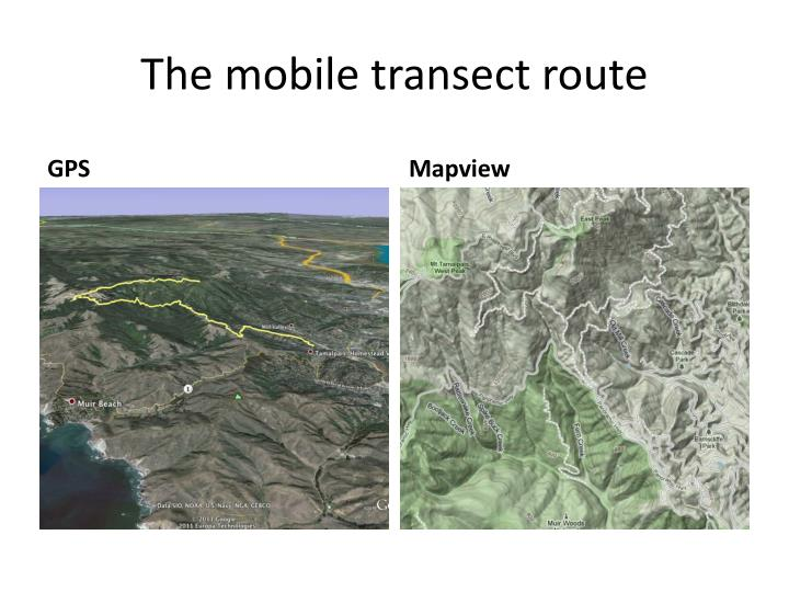 The mobile transect route