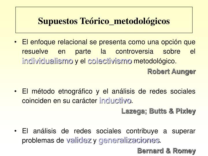 Supuestos Teórico_metodológicos