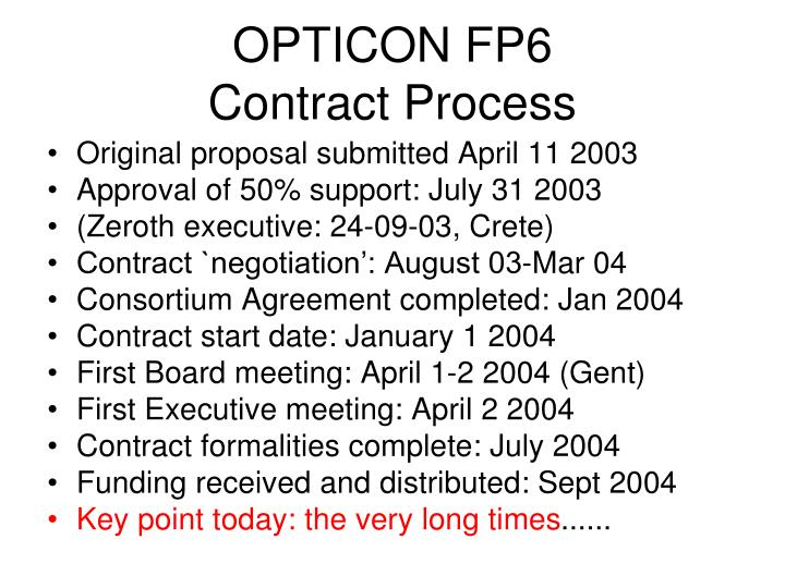 OPTICON FP6