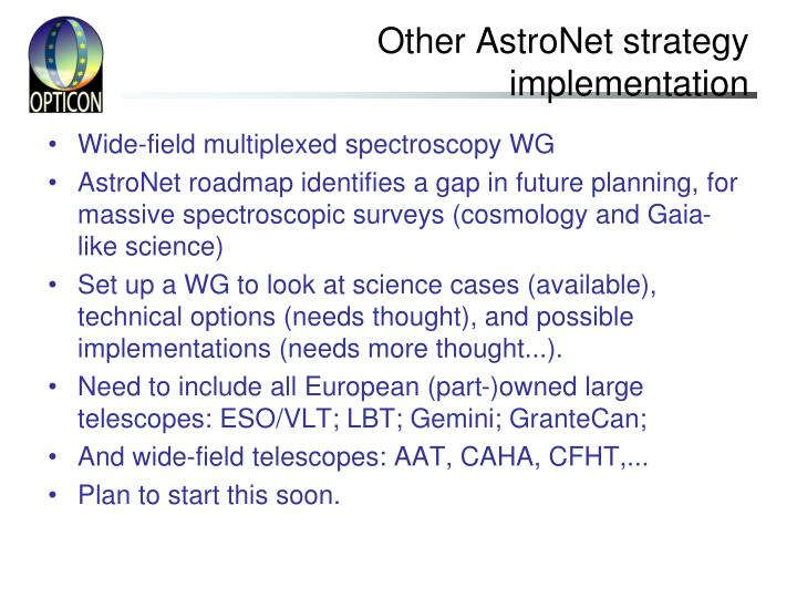 Other AstroNet strategy implementation