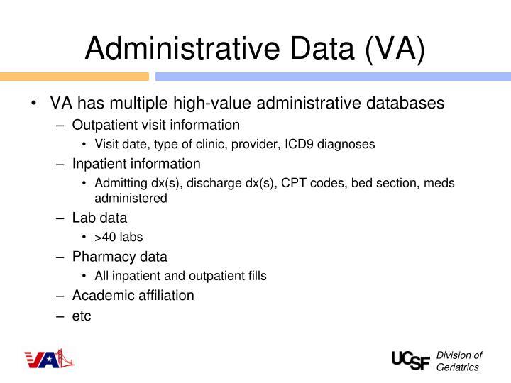 Administrative Data (VA)