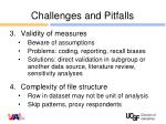 challenges and pitfalls1