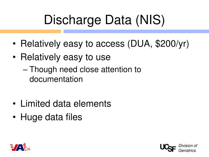 Discharge Data (NIS)