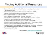 finding additional resources