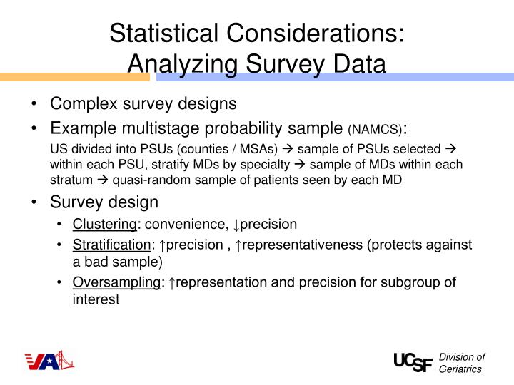 Statistical Considerations:
