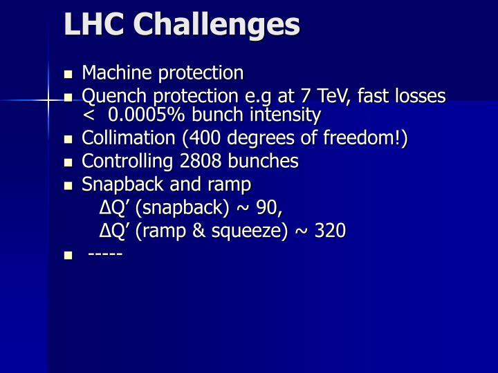 LHC Challenges