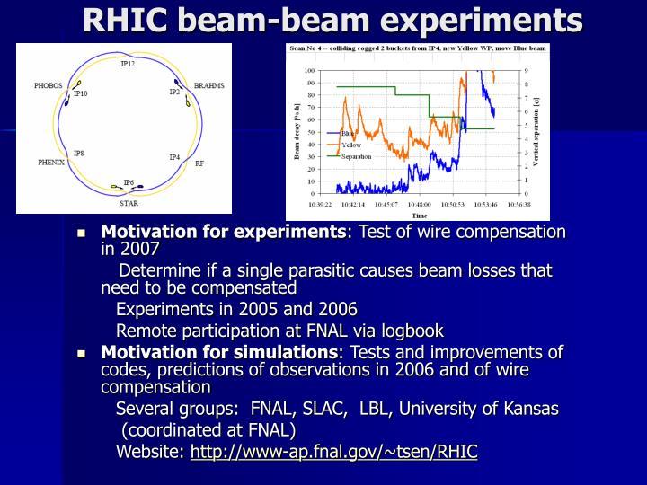 RHIC beam-beam experiments
