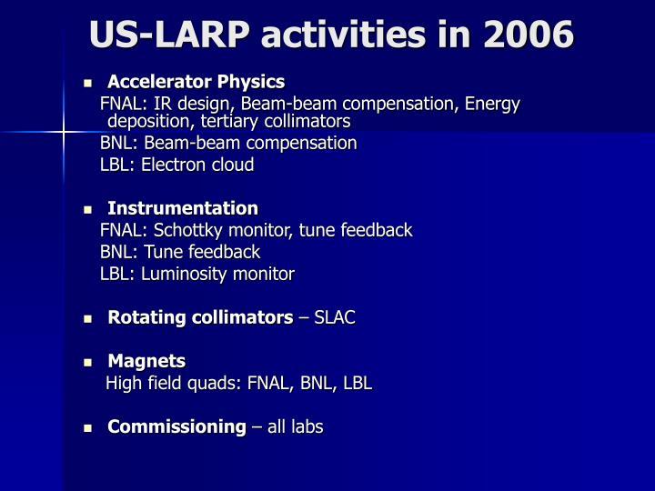 US-LARP activities in 2006