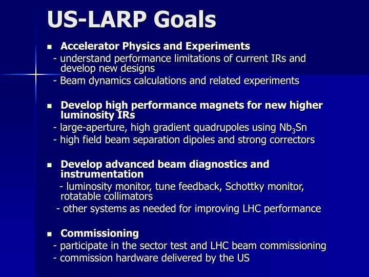 US-LARP Goals