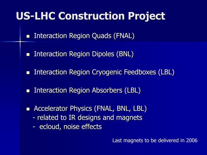 US-LHC Construction Project