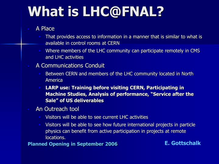 What is LHC@FNAL?