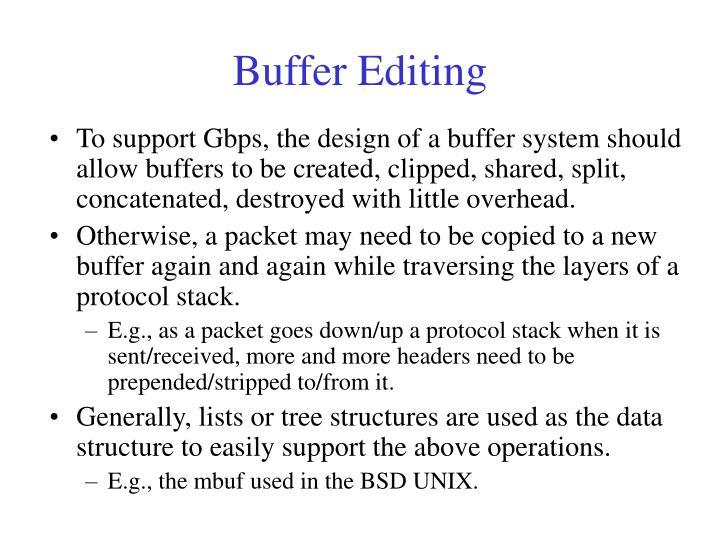 Buffer Editing