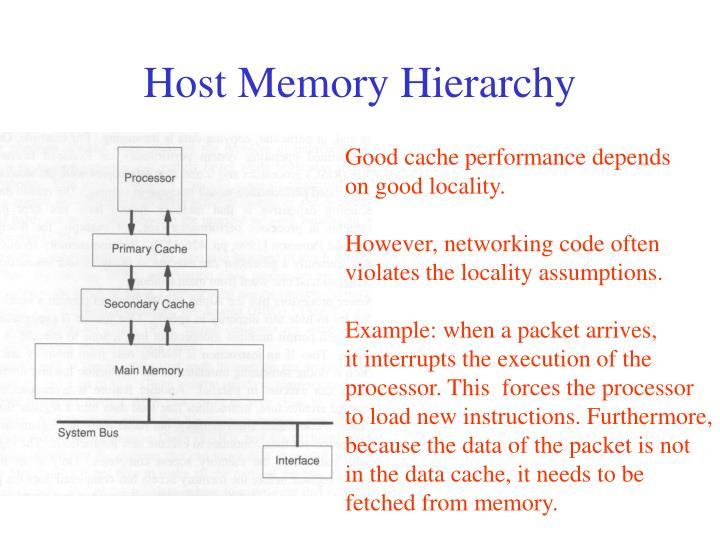 Host Memory Hierarchy
