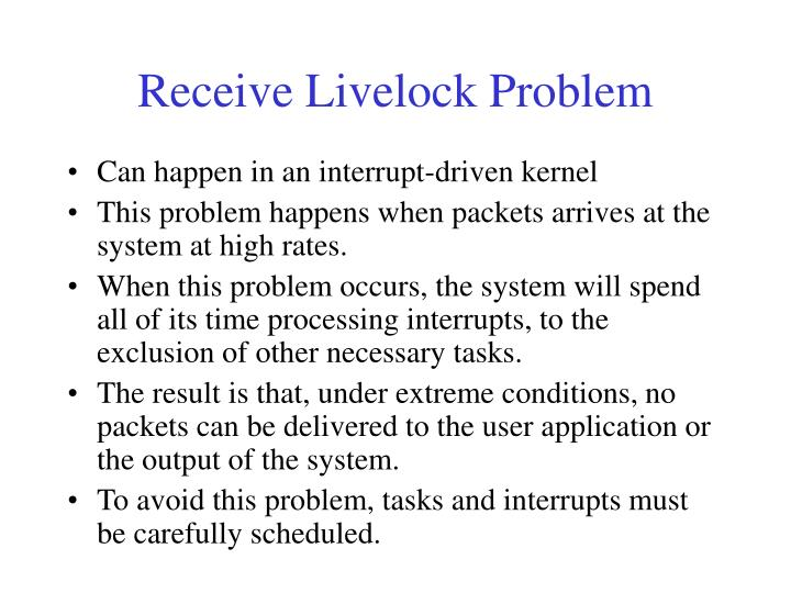 Receive Livelock Problem