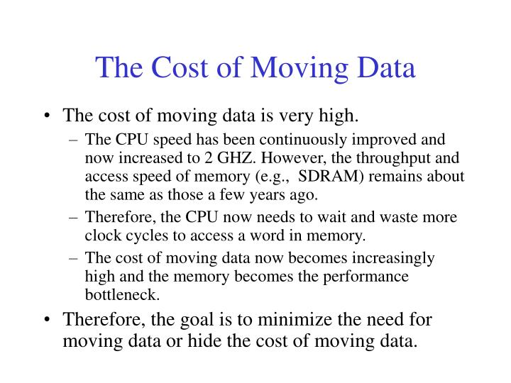 The Cost of Moving Data