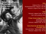 datos sobre pueblos ind genas en el siglo xx en paraguay