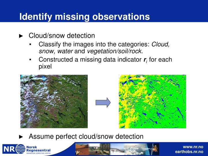 Identify missing observations