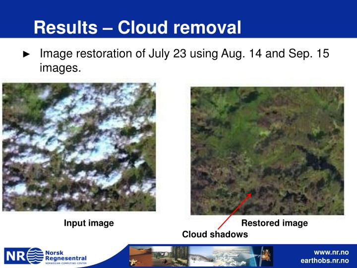 Results – Cloud removal