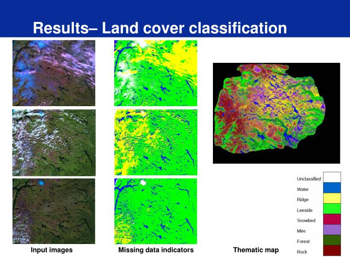 Results– Land cover classification