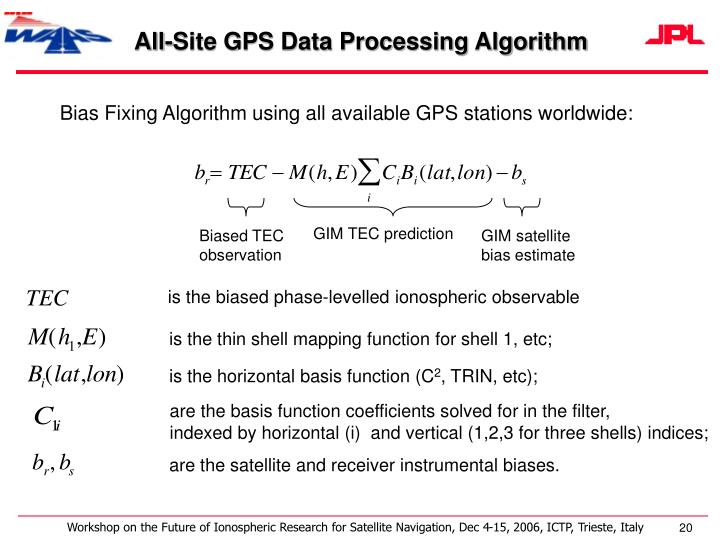 All-Site GPS Data Processing Algorithm