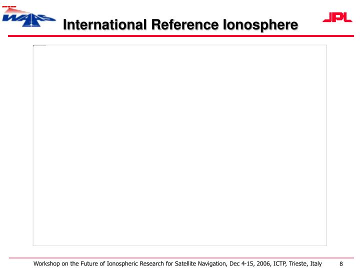 International Reference Ionosphere