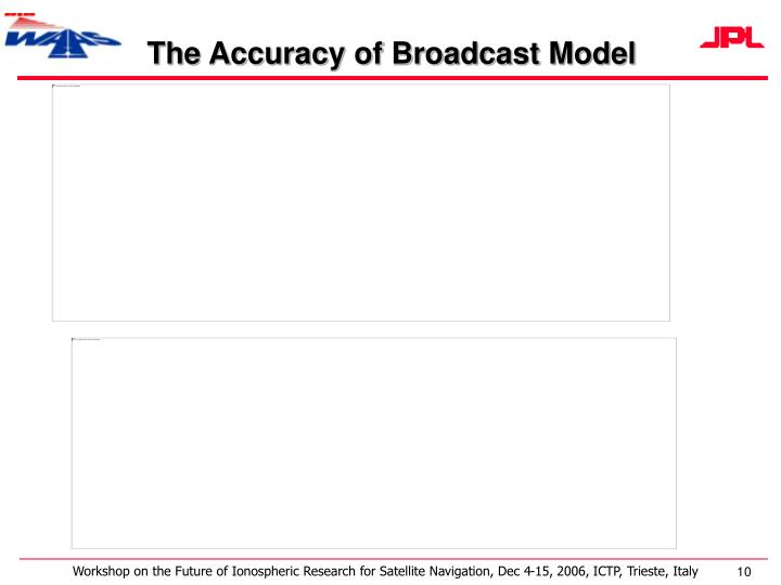 The Accuracy of Broadcast Model