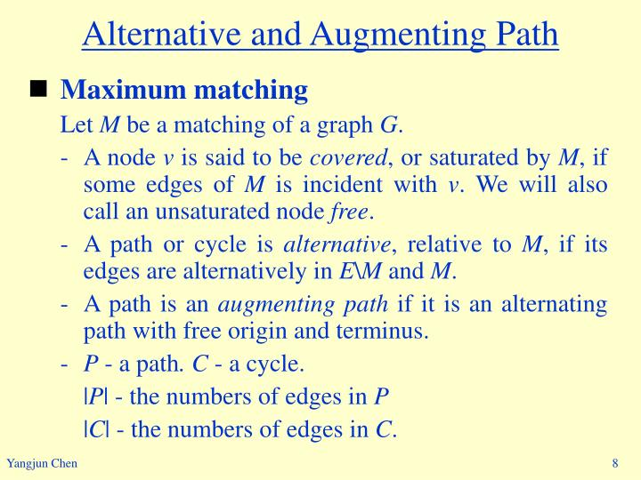 Alternative and Augmenting Path