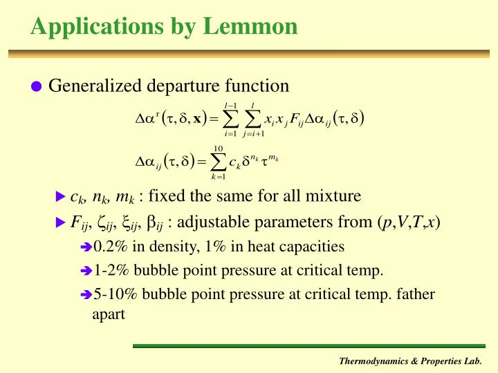 Applications by Lemmon