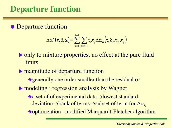 Departure function
