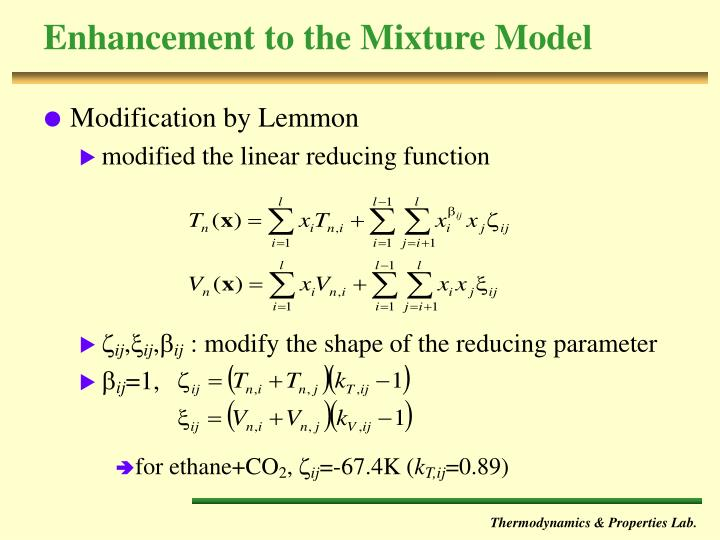 Enhancement to the Mixture Model