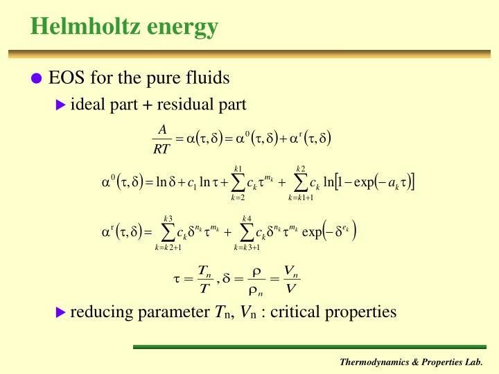 Helmholtz energy