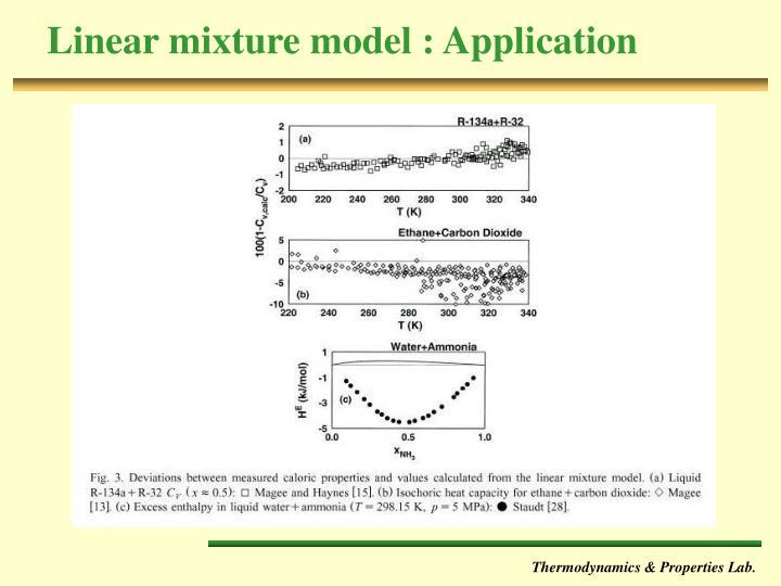 Linear mixture model : Application