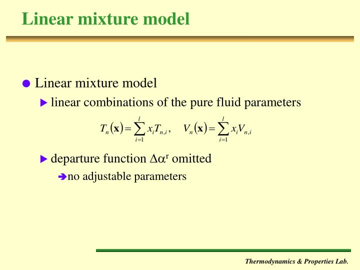 Linear mixture model