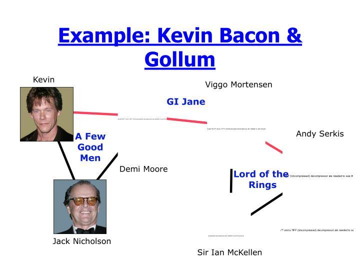 Example: Kevin Bacon & Gollum