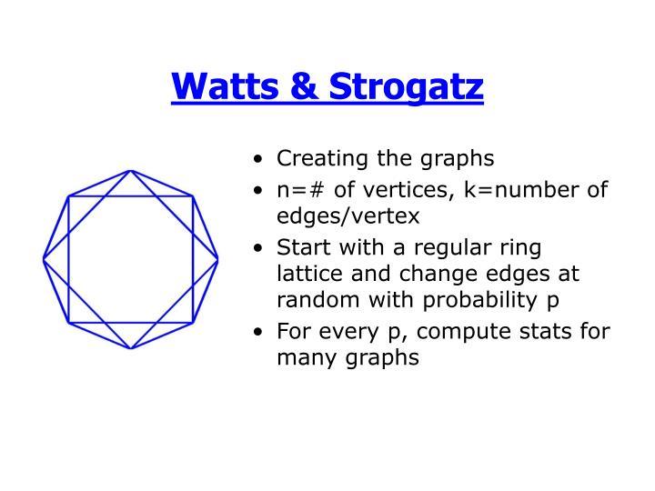 Watts & Strogatz
