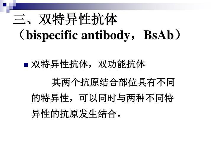 三、双特异性抗体