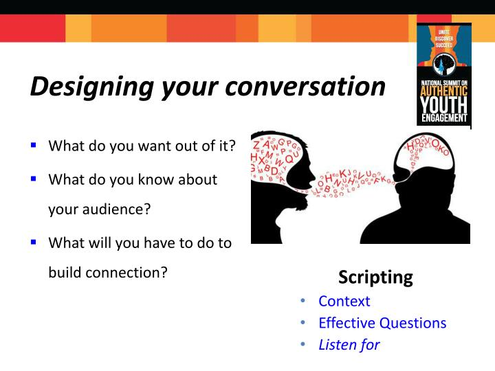 Designing your conversation