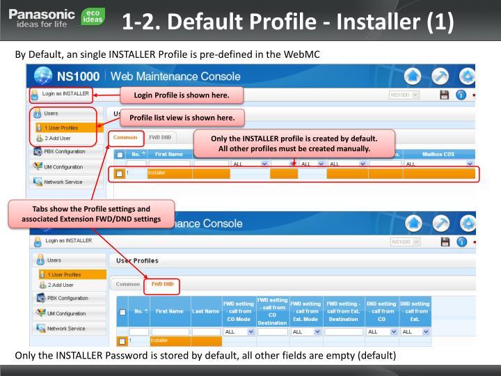 1-2. Default Profile - Installer (1)