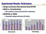 experimental results performance