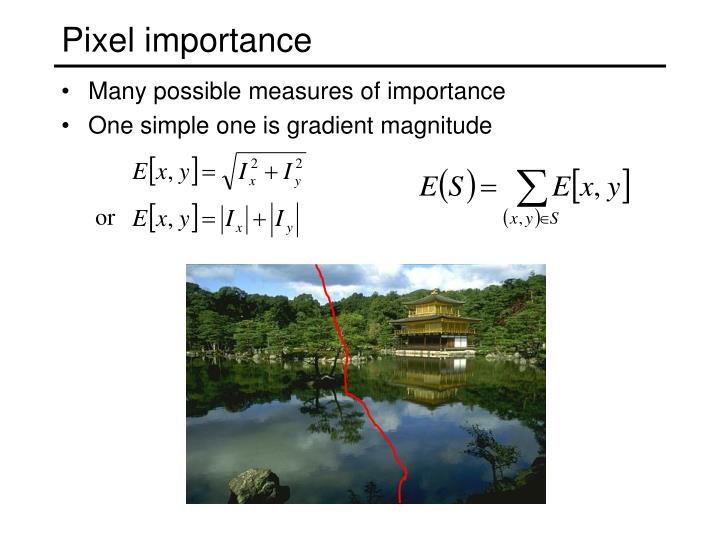 Pixel importance
