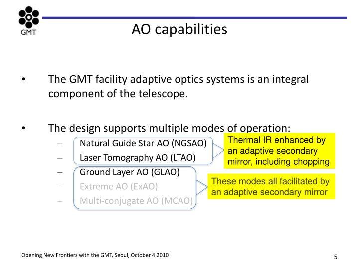 AO capabilities