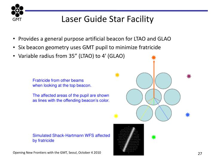 Laser Guide Star Facility