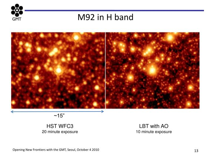 M92 in H band