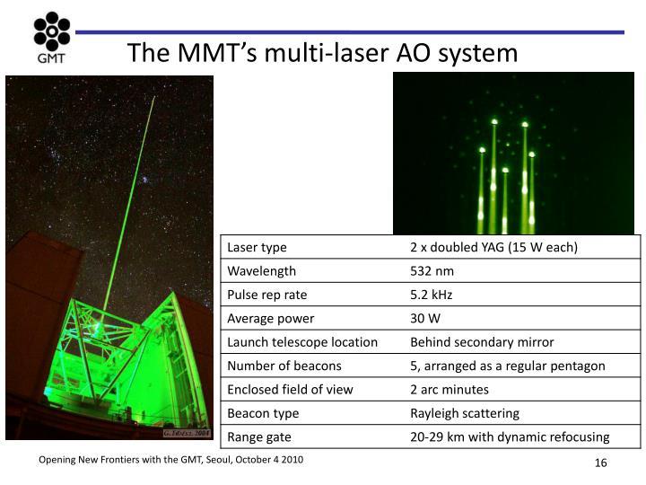 The MMT's multi-laser AO system