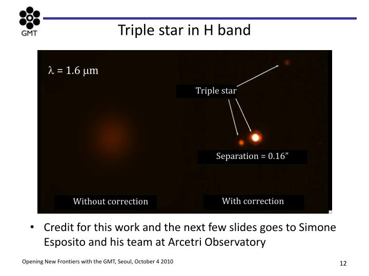Triple star in H band