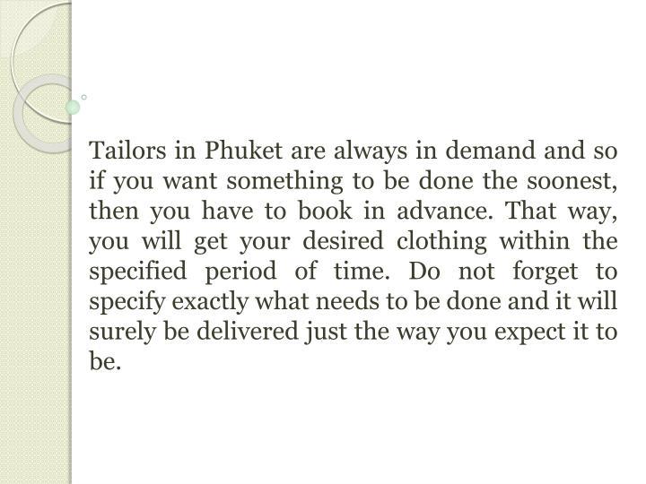 Tailors in