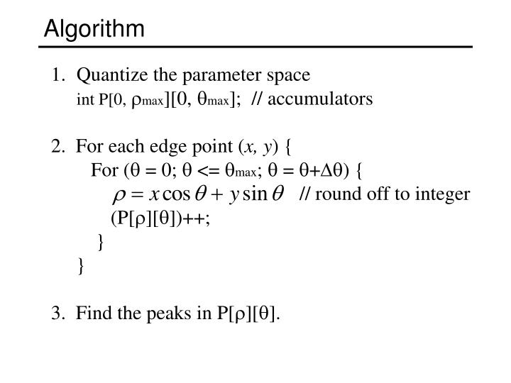 Quantize the parameter space