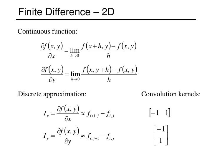 Finite Difference – 2D