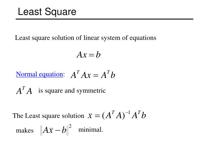 is square and symmetric