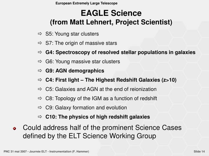 EAGLE Science
